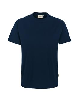 Herren Shirt in Tinte mit Rundhals-Ausschnitt