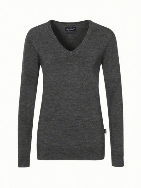 HAKRO Strick Nr. 134 Damen V-Ausschnitt Strick Pullover - Merino Wolle - in 4 Farben