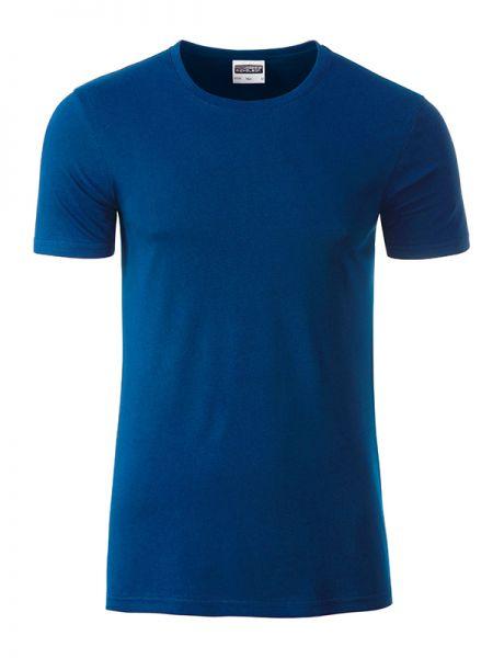 Herren Shirt dark-royal Bio-Baumwolle Tradition Daiber